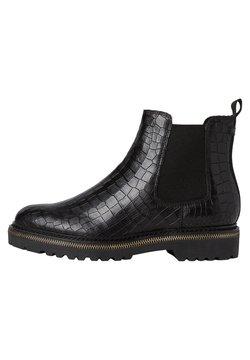 Tamaris - Ankelstøvler - black croco