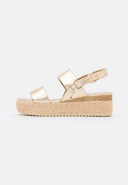 Anna Field - Korkeakorkoiset sandaalit - gold