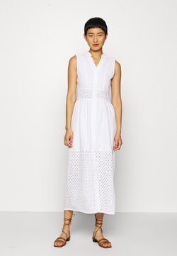 GANT - BROIDERY ANGLAIS MIX DRESS - Blousejurk - white
