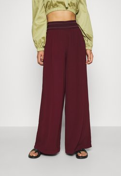 ONLY - ONLALEX LIFE LONG WIDE PANT - Spodnie materiałowe - port royale
