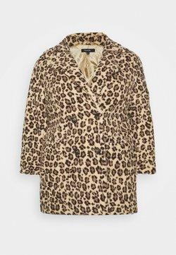 Simply Be - ANIMAL PRINT TEDDY COAT - Chaqueta de invierno - brown