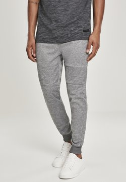Southpole - HERREN ZIPPER POCKET MARLED TECH FLEECE JOGGER - Jogginghose - marled black