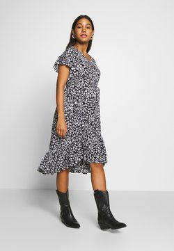 Supermom - DRESS LEOPARD - Freizeitkleid - black