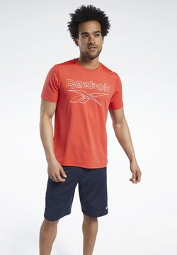 Reebok - WORKOUT READY ACTIVCHILL T-SHIRT - T-Shirt print - red