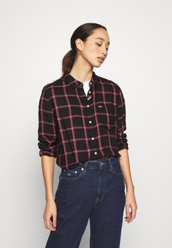 Tommy Jeans - FLUID CHECK - Paitapusero - black/glamour pink