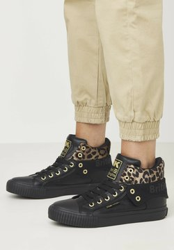 British Knights - SNEAKER ROCO - Sneaker high - black/rust leopard/gold/black