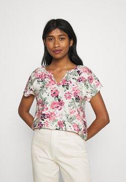 Vero Moda - VMGIGI  - T-shirt z nadrukiem - birch/honey suckle