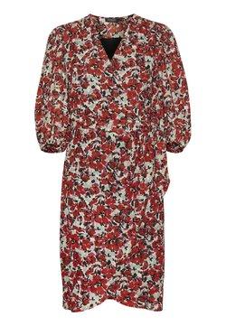 Soaked in Luxury - MELROSE WRAP DRESS - Freizeitkleid - multifloral cardinal