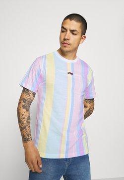 Tommy Jeans - STRIPE TEE - T-Shirt print - romantic pink