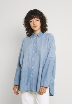 American Eagle - CORE OVERSIZED TAB SHIRT  - Camisa - chambray blue
