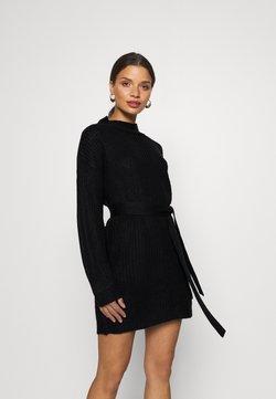 Missguided Petite - BASIC DRESS WITH BELT - Robe fourreau - black