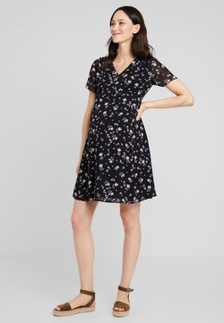 JoJo Maman Bébé - DITSY TEA DRESS - Korte jurk - black