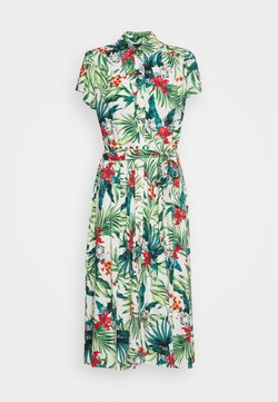Dorothy Perkins - TROPICAL SHIRT DRESS - Blousejurk - white