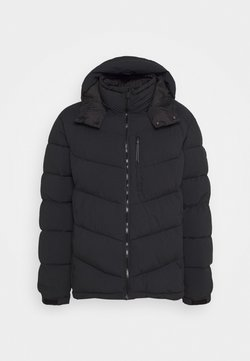 Scotch & Soda - REPREVE MID-LENGTH QUITLED PADDED JACKET WITH CONTRAST HOOD - Winterjacke - night