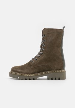 Tamaris - BOOTS - Bottines à lacets - olive