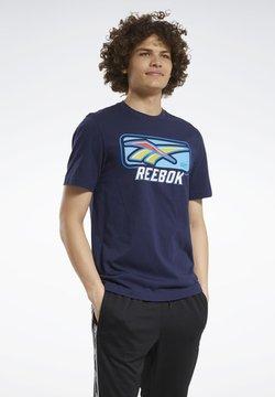 Reebok Classic - CLASSICS SOFT EDGE VINTAGE T-SHIRT - T-shirt imprimé - blue