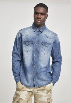 Brandit - HERREN RILEY DENIMSHIRT - Overhemd - denim blue