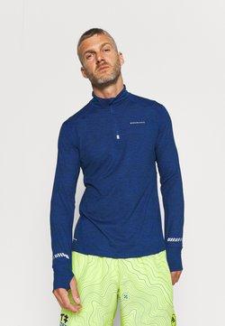 Endurance - TUNE MELANGE MIDLAYER - Koszulka sportowa - deep ocean