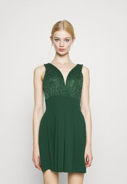 WAL G. - PLEATED SKATER DRESS - Trikoomekko - forest green