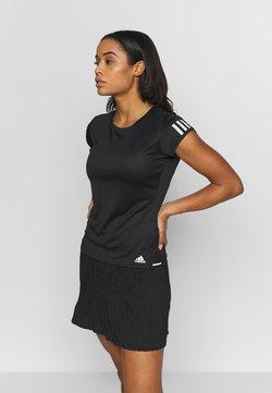 adidas Performance - CLUB TEE - T-shirt med print - black/silver/white