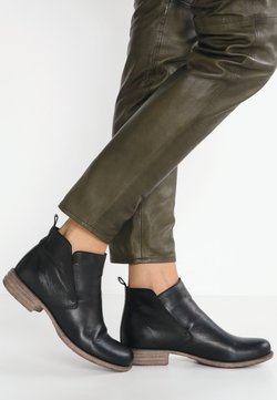 Anna Field - LEATHER BOOTIES - Nilkkurit - black