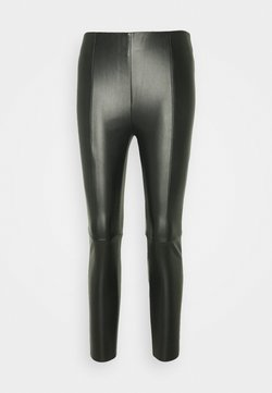 Vero Moda Petite - VMMODANIMA COATED - Leggings - black