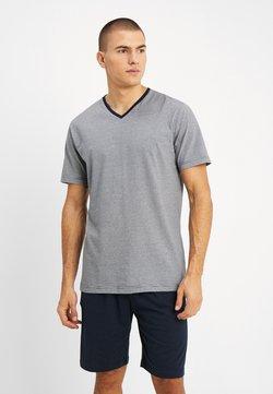 TOM TAILOR - SHORTY V-NECK - Pyjama - dark blue