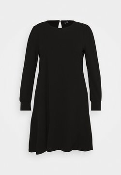 Vero Moda Curve - VMJASMINE BUTTON DRESS - Jerseykleid - black