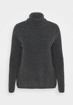 Selected Femme - SLFSTACEY ROLLNECK - Strickpullover - dark grey melange