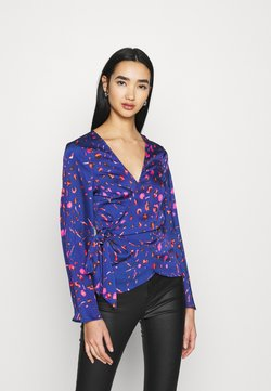 Never Fully Dressed - SPLICE FLORAL WRAP TOP - Camicetta - multi