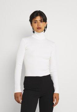 Missguided - ROLL NECK BODY - Pitkähihainen paita - off white
