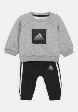 adidas Performance - LOGO SET UNISEX - Chándal - medium grey heather/black