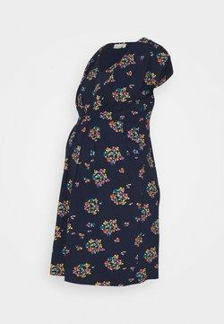 JoJo Maman Bébé - FLORAL NURSINGTUNIC DRESS - Jerseykleid - navy