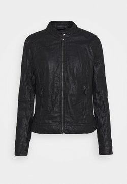 TOM TAILOR - JACKET - Kunstlederjacke - deep black