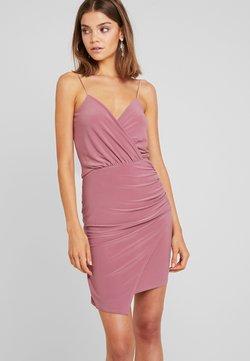 Missguided - SLINKY WRAP OVER MINI DRESS - Etuikleid - rose