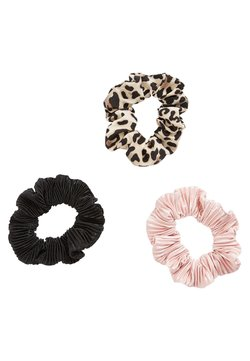 Next - LEOPARD/PINK/BLACK SCRUNCHIES THREE PACK - Haar-Styling-Accessoires - multi-coloured