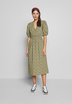 JUST FEMALE - DOVE DRESS - Hverdagskjoler - black/yellow