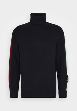 Tommy Hilfiger - ICON TIPPED ROLL NECK - Strickpullover - blue