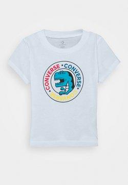 Converse - DINO WORDMARK TEE - T-shirt z nadrukiem - white