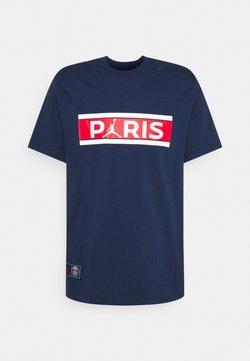 Nike Performance - PARIS ST GERMAIN WORDMARK TEE - Vereinsmannschaften - midnight navy