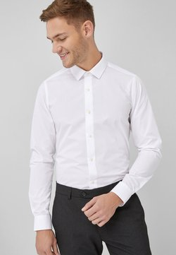 Next - WHITE SKINNY FIT SINGLE CUFF EASY CARE SHIRT - Hemd - white