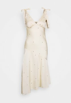 Miss Selfridge - SPOT MIDI DRESS - Cocktailkleid/festliches Kleid - nude