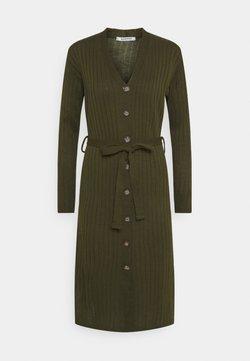Glamorous Petite - BUTTON THROUGH DRESS  - Vestido de punto - khaki