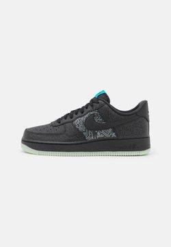 Nike Sportswear - AIR FORCE 1 '07 - Sneaker low - black/light blue fury
