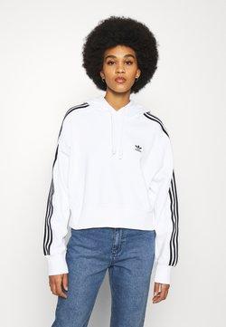 adidas Originals - SHORT HOODIE - Bluza z kapturem - white