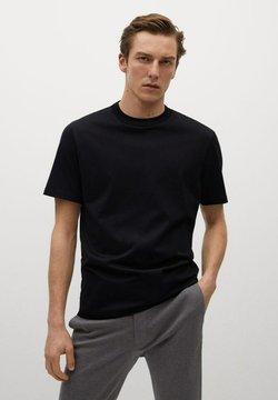 Mango - T-shirt basique - black