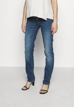 MAMALICIOUS - MLPUNTA - Straight leg jeans - light blue denim