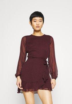 Abercrombie & Fitch - WRAP DRESS - Vestido de cóctel - burgundy