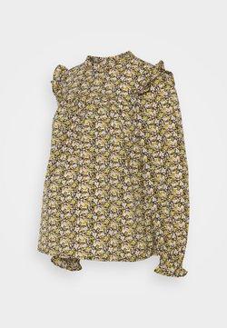 Pieces Maternity - PCMRIMBLA - Bluse - black/yellow