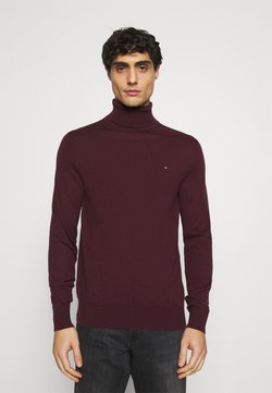 Tommy Hilfiger Tailored - FINE GAUGE LUXURY ROLL  - Pullover - bordeaux